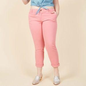 Modcloth Pink Straight Leg Pants